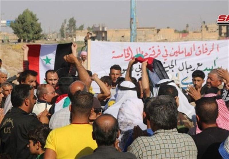 تجمع ساکنان دیرالزور در محکومیت حملات ترکیه به سوریه