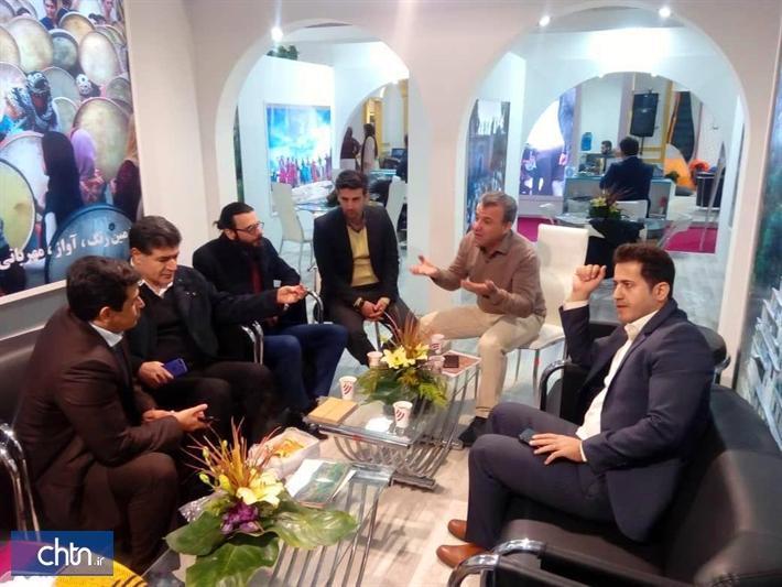 بازدید رئیس کمیسیون گردشگری اتاق بازرگانی ایران از غرفه کردستان