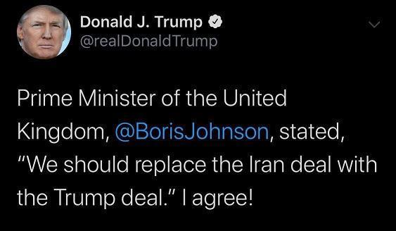 استقبال ترامپ از پیشنهاد برجامی نخست وزیر انگلیس