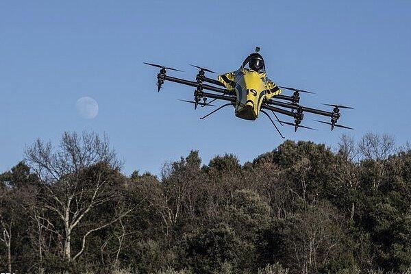 پهپاد سرنشین دار با سرعت 87 مایل بر ساعت پرواز کرد