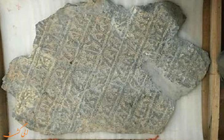 کشف یک کتیبه تاریخی سرقت شده در یزد