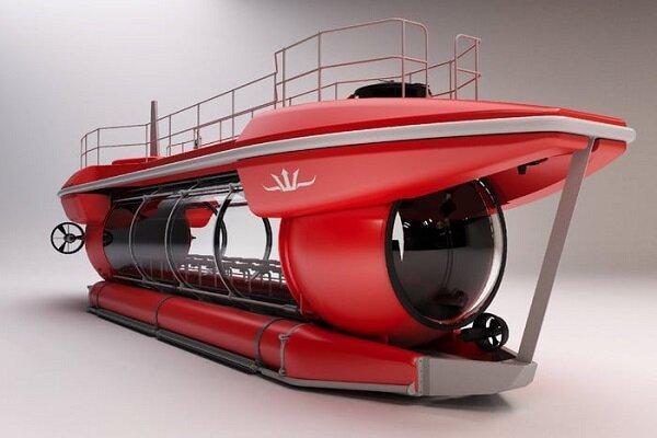 فراوری زیردریایی توریستی با دید 360 درجه