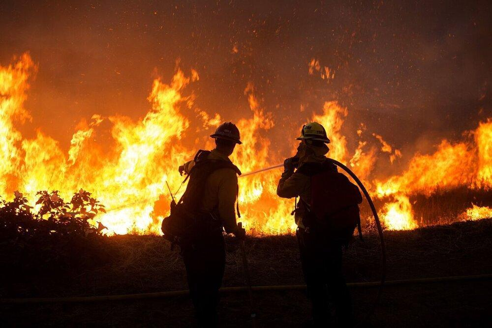 آتش سوزی گسترده در تگزاس آمریکا