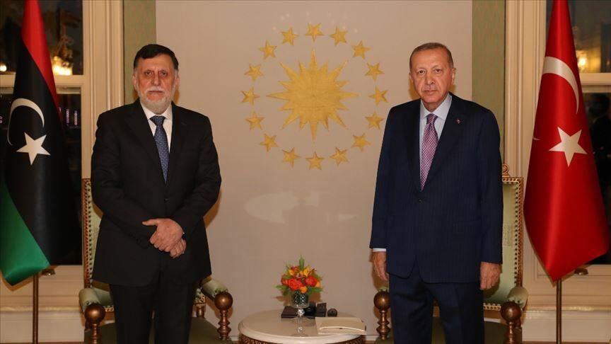 خبرنگاران دیدار فایز السراج با اردوغان پشت درهای بسته