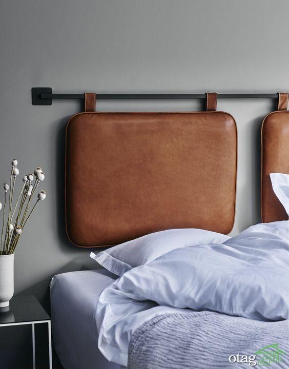 مدل تاج تخت خواب در طرح های بافتی و مخملی [بسیار زیبا و شیک ]