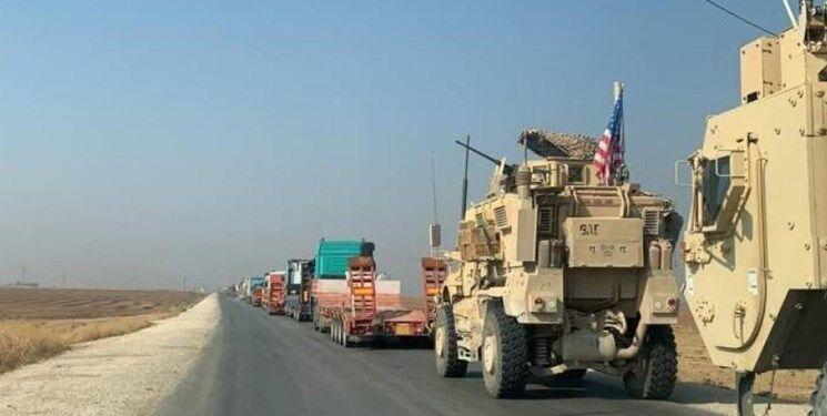 خبرنگاران ادامه ورود کاروان های نظامی آمریکایی از عراق به سوریه برای سرقت نفت