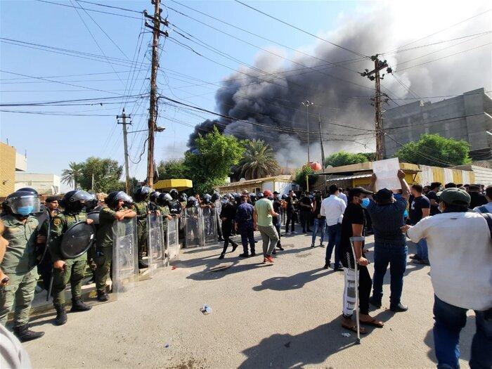 فرمانده حشدالشعبی: اعتراضات و آتش زدن دفتر حزب دموکرات ارتباطی به ما ندارد