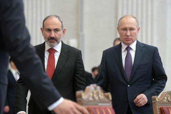 پوتین خواهان حل و فصل بحران ارمنستان در چارچوب قانون شد