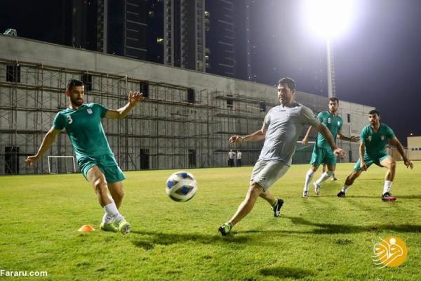 (عکس) آمادگی عجیب کریم باقری در تمرین تیم ملی!